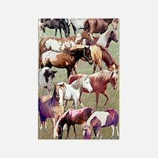 Ponies Rectangle Magnet