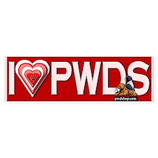 Love PWDS HEARTS Bumper Bumper Sticker