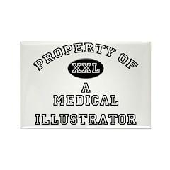 Property of a Medical Illustrator Rectangle Magnet