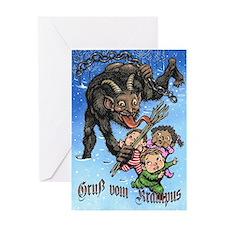 Unique Krampus Greeting Card