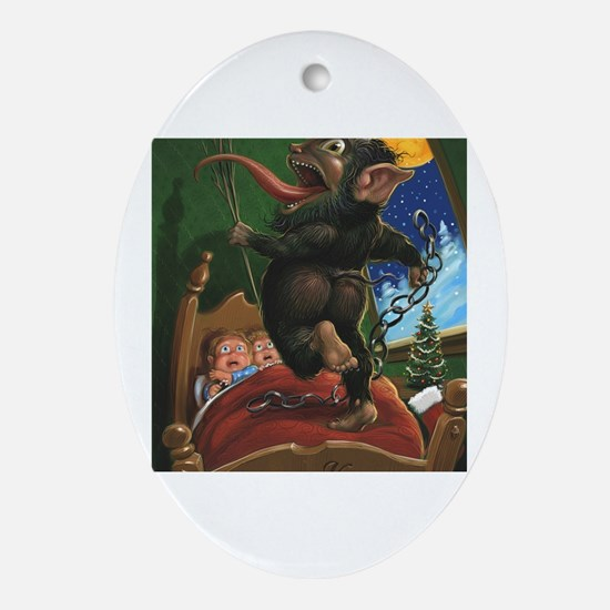 Funny Krampus Oval Ornament