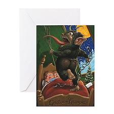 Funny Krampus Greeting Card