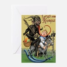 Funny Krampus Greeting Card