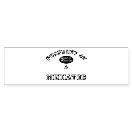Property of a Mediator Bumper Sticker