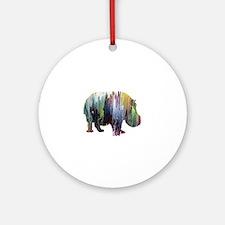Cute Acrylic Round Ornament