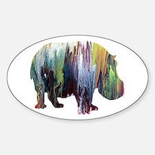 Unique Hippos Sticker (Oval)