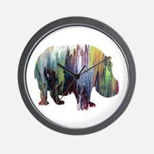 Cute Hippos Wall Clock