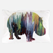 Hippopotamus Pillow Case