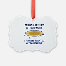 Friends Are Like A Trampoline Ornament