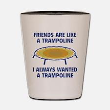 Friends Are Like A Trampoline Shot Glass