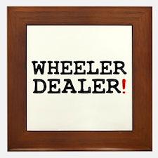 WHEELER DEALER! Framed Tile