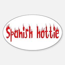 Spanish Hottie Oval Decal
