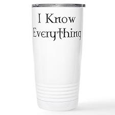 Cute Know everything Travel Mug