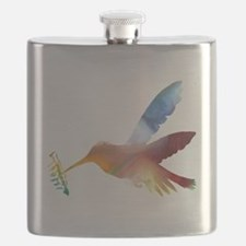 Unique Bird art Flask