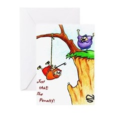 Unique Humorous golf Greeting Cards (Pk of 20)