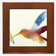 humming bird Framed Tile