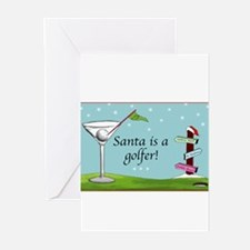 Unique Santa golfing Greeting Cards (Pk of 20)