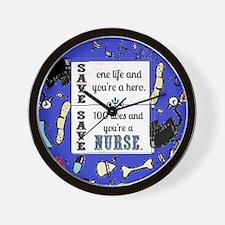 Nurse hero Wall Clock