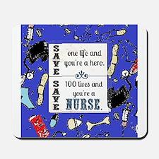 Nurse hero Mousepad