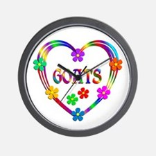 Goat Heart Wall Clock