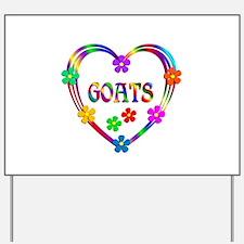 Goat Heart Yard Sign