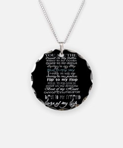 sweet love quote Necklace Circle Charm
