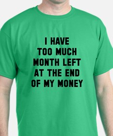 Month end t shirts shirts tees custom month end clothing for How much is a custom t shirt