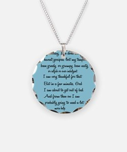Cute Funny prayer Necklace