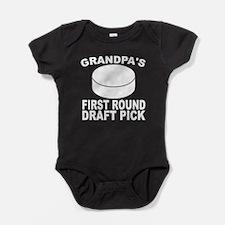 Grandpa's First Round Draft Pick Hockey Baby Bodys