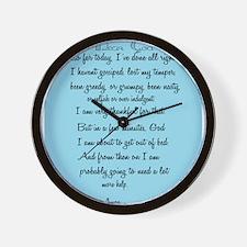 Cute Funny prayer Wall Clock