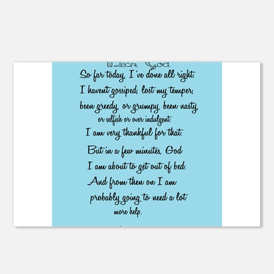 Cute Funny prayer Postcards (Package of 8)