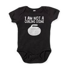 I Am Not A Curling Stone Baby Bodysuit