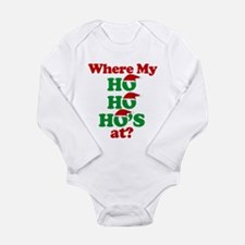 Cute Ho ho ho Long Sleeve Infant Bodysuit