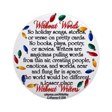"Holiday ""Without Words"" Large Round Orna"