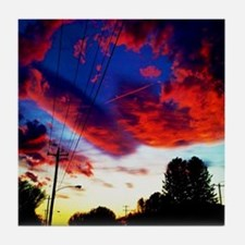 Cute Pretty sunset Tile Coaster