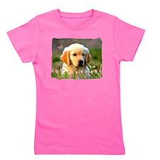 Cool Golden retriever puppy Girl's Tee