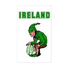 Irish Rugby Rectangle Decal