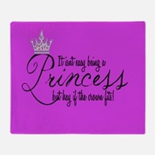 Cute Princess crown Throw Blanket