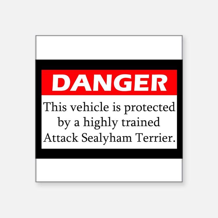 "Cute Sealyham terriers Square Sticker 3"" x 3"""