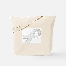 Unique Silver ribbon Tote Bag