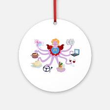 Super Mom Round Ornament