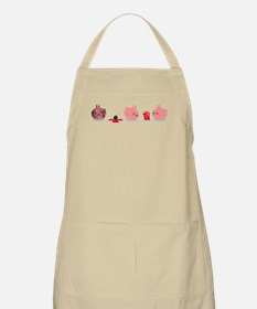 Pink Creature Gets A Bomb As Present Apron