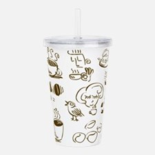 Coffee Coffee Coffee Acrylic Double-wall Tumbler