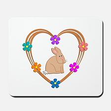 Rabbit Heart Mousepad