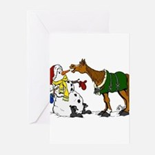 Cute Horse dressage Greeting Cards (Pk of 10)