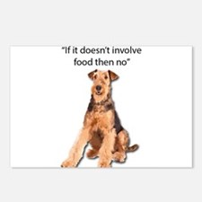 Greedy Airedale in it for Postcards (Package of 8)