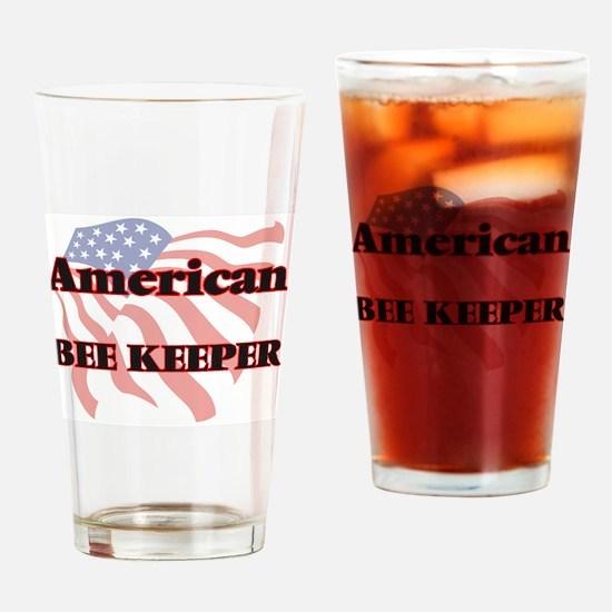 American Bee Keeper Drinking Glass