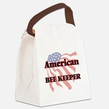 American Bee Keeper Canvas Lunch Bag