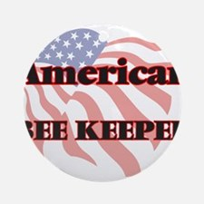 American Bee Keeper Round Ornament
