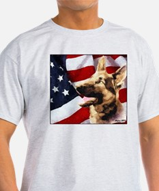 German Shepherd Art T-Shirt